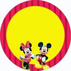 Mickey e Minnie Cupcake Mickey, Mickey E Minnie Mouse, Mickey Mouse Clubhouse, Mickey Mouse Birthday, Disney Mickey, Scrapbook Da Disney, Minnie Mouse Pictures, Disney Printables, Mickey And Friends