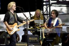 Daryl Hall (L) and John Oates of Daryl Hall & John Oates perform during the KAABOO Del Mar music festival on September 16, 2016 in Del Mar, California.
