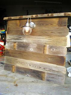 Southern Fried Living: Salvaged Wood Headboards: Twin Boys Room