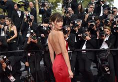Bella Hadid on wearing that naked red dress and working with Gigi http://ift.tt/1RSvm2Q #VogueAustralia #Fashion