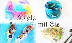 Ice Summer Activities | Painting with Ice Cubes, dinosaur excavation, ocean, pirates | Malen und spielen im sommer mit eis für kinder kleinkinder kindergarten ozean dinosaurier ausgrabung piraten