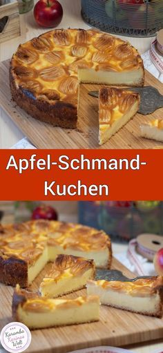 Bombastisch, leckerer Apfel-Schmand-Kuchen I like baking apple pie. For many years, there are always grandma's apple pie with us. But this year I wanted to bake an apple sour cream cake. Food Cakes, Cupcake Cakes, Apple Sour Cream Cake, Brownie Recipes, Cake Recipes, Pudding Desserts, Pastry Cake, Coffee Cake, Yummy Cakes