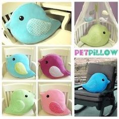 bird pillow by sally