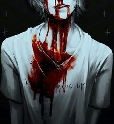 """""""Wh-what are you doing?"""" I ask, as an eerie smile crept up his face. He leaned back, against the old, dusty wall in the forest cabin. """"Close your eyes."""" He said, quickly, but softly. I force a chuckle. """"Okay?"""" I close my eyes slowly, awaiting something. I hear a strange noise. """"M-Mark? What's happening? Can I open my eyes?"""" I peeked one eye open, to see Mark, but not actually Mark. His face dripped with blood, the cute smile now a toothy grin, his eyes pitch black yet letting off an ominous…"""