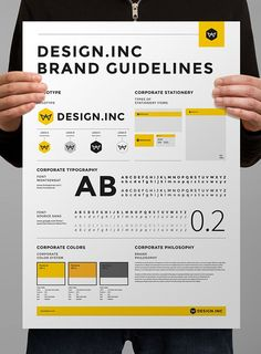 Brand manual and identity poster on behance graphic design branding, brand identity design, brand Brand Guidelines Template, Business Plan Template, Design Guidelines, Logo Guidelines, Branding Template, Flyer Template, Design Corporativo, Creative Design, Design Tech