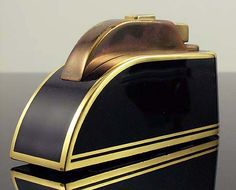 Art Deco/Streamline table lighter. If this isn't the definition of Streamline, I don't know what is!