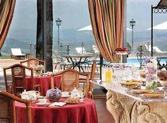 The panoramic restaurant of Relais Todini Umbria Todi