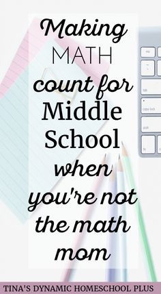 Making Math Count for Middle School When You're Not the Math Mom @ Tina's Dynamic Homeschool Plus How To Start Homeschooling, Homeschool Math, Fun Math, Maths, Math Fractions, Multiplication, Math Journals, Math Facts, Teaching Math