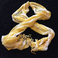 Yellow And White Scarf