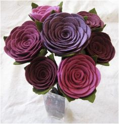 A bouquet of felt roses...totally compatible with my black thumb!