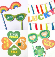 Simple St Patricks Day instant DIY party celebration photo props!
