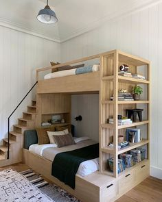 This particular white bunk beds is honestly a remarkable style technique. - This particular white bunk beds is honestly a remarkable style technique. This particular white bunk beds is honestly a remarkable style technique. Home Room Design, Kids Room Design, Home Interior Design, Loft Design, Small House Design, Interior Modern, Design Design, Bunk Bed Designs, Girl Bedroom Designs