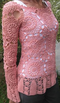 Crochet treasure trove: long sleeved shirts