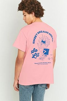 5563b84f75e29 Get Graphic So Lit Pink T-shirt Urban Outfitters Shirt Logo Design