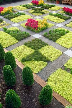 Absolutely fabulous Quilt Garden at North Carolina Arboretum, Asheville, NC ...So Pretty! ...This could be done on a much smaller scale in a backyard garden. Use herbs, flowers, even vegetables. Design your own quilt garden.