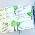 How did I forget to share my weekly?!? Theme: Trees This week: Regular green leave trees drawn with Tombow dual brush pens, Sakura Pigma Micron pens, and Staedtler fineliners. I'll have to apologize if I'm a bit quieter the next few days. If you saw my story I'm on crutches for an unknown amount of time, and it is possible I may need surgery . The joys of hip dysplasia! Please send good vibes that whatever this is goes away soon! Have a lovely week!!! • • • • #bulletjournal #newweek #bu...