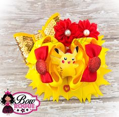 A personal favorite from my Etsy shop https://www.etsy.com/listing/481908205/pokemon-character-inspired-hairbow