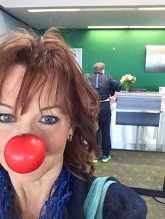 Red Nose Day prep at DIA