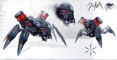 Evolution Battle for Utopia Robot Concept Art, Weapon Concept Art, Character Concept, Character Art, Character Design, Cyberpunk, Robot Animal, Cool Robots, Sci Fi Weapons