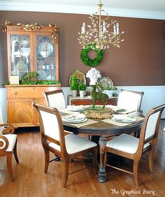 Nice dining room color!