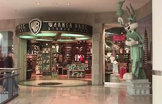 warner brothers studio store This was in the Danbury Fair Mall. Warner Bros Store, Warner Bros Studios, Bugs Bunny, 90s Childhood, Childhood Memories, Arcade, Mall Stores, Retail Stores, Las Vegas