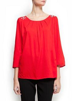 Crystal embellished blouse Mango