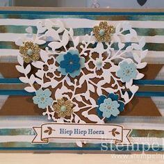 Bloomin' Heart Thinlits en Bloomin' Love Stamp Set Stampin' Up! Spring/Summer 2016