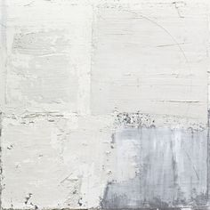 white + grey + blue contemporary abstract art by Sand Breton