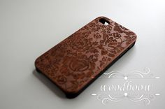 Rose Pattern - Wood iPhone 4/4s case - Cherry / Walnut / Rosewood by Woodboow on Etsy https://www.etsy.com/listing/185625427/rose-pattern-wood-iphone-44s-case-cherry