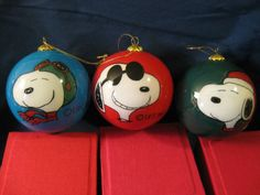 peanuts gang painted christmas ornament set of 5 charlie brown snoopy lucy linus sally on etsy 5000 christmas pinterest painted christmas