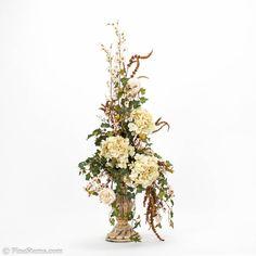 Hand Crafted Cream Arrangement - Silk Florals
