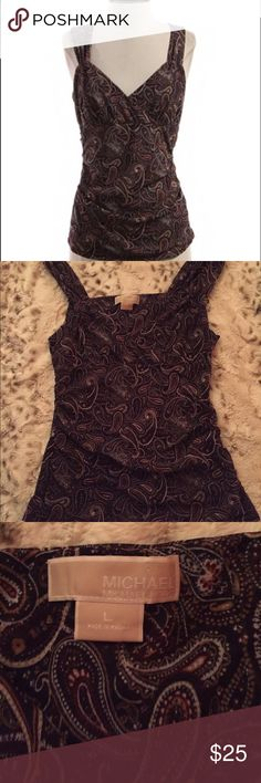 Purple paisley tank Beautiful purple paisley Michael by Michael Kors tank. Size large. Smoke free/pet free home. Don't like the price? Make an offer 🙂 MICHAEL Michael Kors Tops Tank Tops