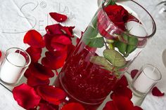 candele e rose galleggianti, matrimonio Hotel San Rocco