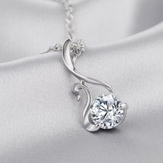 Elegant #Swan 925 Silver Crystal Clavicle Pendant Necklace Women Jewelry Accessories