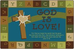 God is Love Learning Rug Nature | CFK837XX | Carpets for Kids