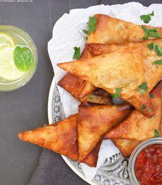 (vegetarische) Samosas zum Abendessen