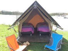 Glamping in een tent