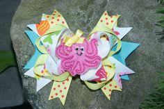 Girly octopus hair clip www.littlesweetpeacloset.com