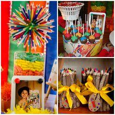 Uma festa criativa, divertida e colorida. Perfeita para se inspirar!
