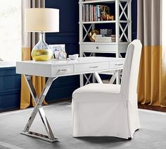 Ava Desk with Drawers #potterybarn