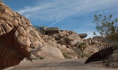 Architecture, Winsome Contemporary Architecture Of Modern Desert House By Kendrick Bangs Kellogg Featuring Unique Exterior Design Among Rock Stone: Unique Modern Architecture Building on Desert