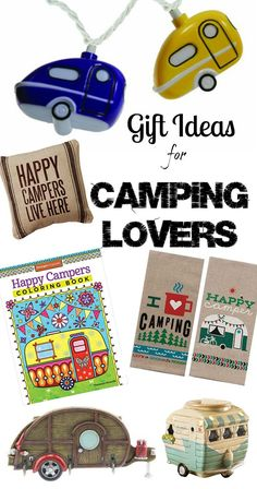 I have a couple friends that are camper obsessed! This Camping Lovers gift guide is a perfect idea to pick out holiday gifts for my happy camper friends! Everything from home decor to outdoor decorations!