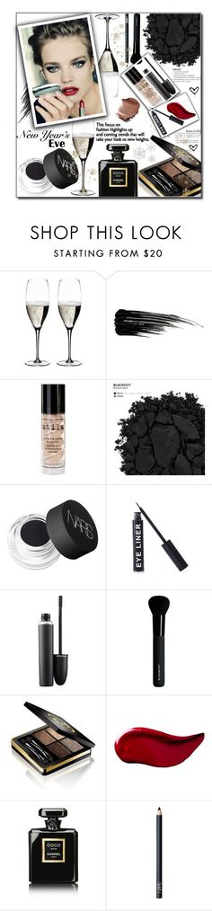 """""""New Year's Eve"""" by kawtar-el ❤ liked on Polyvore featuring beauty, Riedel, Urban Decay, Stila, NARS Cosmetics, Stargazer, MAC Cosmetics, Givenchy, Gucci and Kat Von D"""