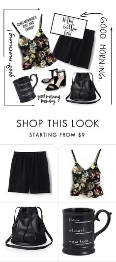 """But coffee first!"" by outfitsloveyou ❤ liked on Polyvore featuring Lands' End and Pier 1 Imports"