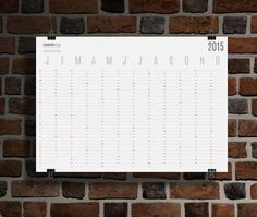 Yearly Wall Planner Calendar 2015 KP-W10 by CalendarsTemplates
