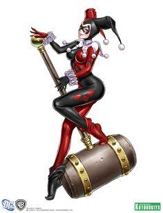 Kotobukiya Harley Quinn Bishoujo illustration by Shunya Yamashita