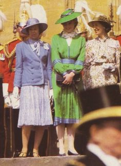 June 15, 1981: Lady Diana Spencer at The order of the Garter.