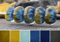 Lost My Key Lentil Boro beads , from AtlantisGlassAndBead on Etsy Hello ABSers! Today starts a new monthly post from me with color pal...