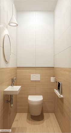 Space Saving Toilet Design for Small Bathroom In the event that you are one of the a huge number of individuals around the globe who needs to bear the claustrophobia of a little restroom, help is within reach. Bathroom Styling, Small Bathroom, Restroom Design, Toilet Closet, Bathroom Renovation Diy, Small Toilet Room, Bathroom Renovations, Toilet Design, Bathroom Design Small