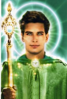 Master Hilarion, Green Flame / Brotherhood of light / Great White Brotherhood Les Chakras, Ascended Masters, Les Religions, Spiritus, Divine Light, Angels Among Us, Mystique, Visionary Art, Angel Art